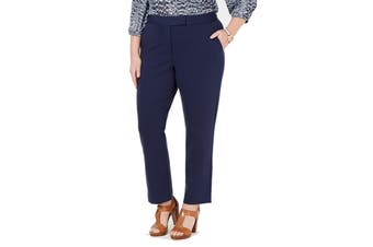 MICHAEL Michael Kors Women's Blue Size 3X Plus Dress Pants Stretch