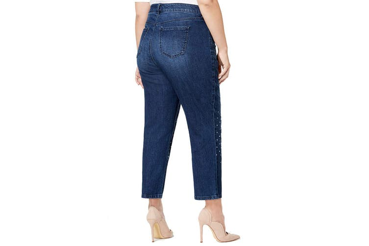 Celebrity Pink Womens Jeans Blue Size 18 Plus Stretch Studded Crop