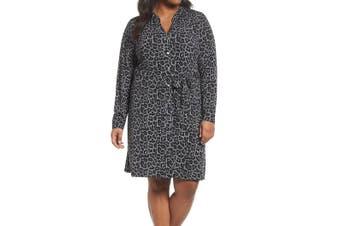 MICHAEL Michael Kors Women's Dress Black Size 1X Plus Shirt Belted
