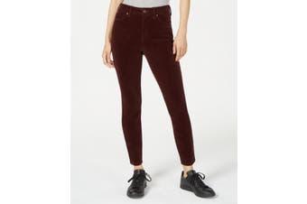 Rewash Women's Red Size 25 Skinny Leg High Rise Corduroys Pants Stretch