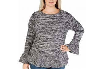 Style & Co. Women's Sweater Heather Gray Size 2X Plus Pullover Knit