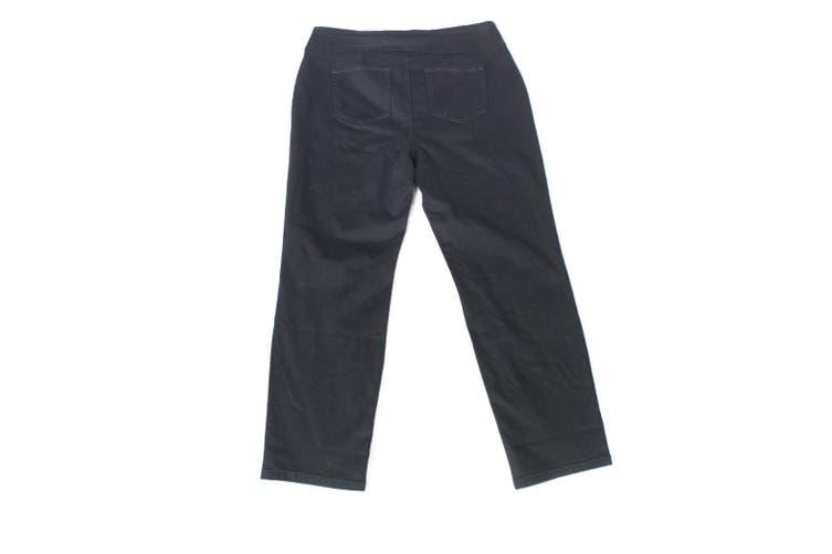 Charter Club Women's Dress Pants Black Size 14WS Plus Short Stretch