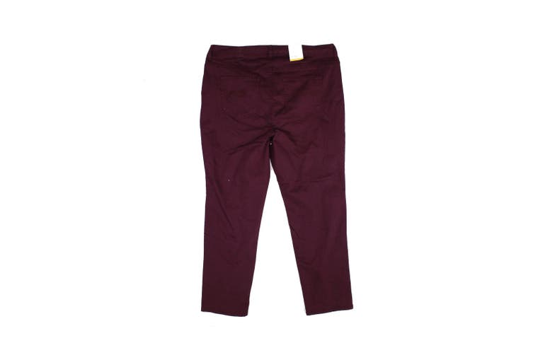 Style & Co. Women's Berry Red Size 18W Plus Stretch Skinny Leg Jeans