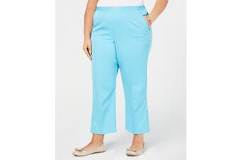 Alfred Dunner Women's Pants Electric Blue Size 18W Plus Elastic Stretch