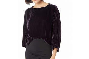 Cupcakes & Cashmere Women's Top Purple Size Small S Christel Velvet