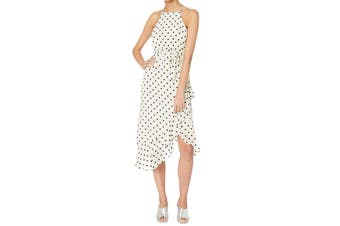 Bardot Women's Dress Beige Size XS Maxi Viviana Spot Draped Halter