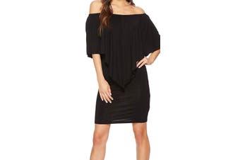 American Rose Women's Nalah Dress Black Size Small S Off-Shoulder