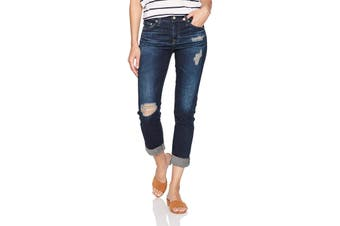 AG Adriano Goldschmied Women's Blue Size 25 Distressed Jeans Stretch