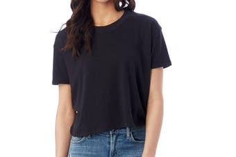 Alternative Girls' Youth Large T-Shirt Black Size 14-16 Solid Tee