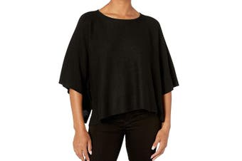 American Rose Women's Knit Top Black Size Large L Lexi Ribbed Slit