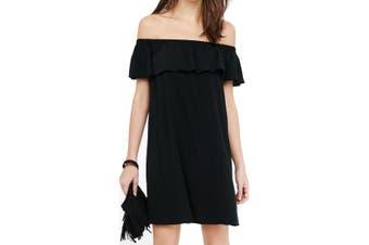 American Rose Women's Dress Black Size Small S Sheath Off Shoulder
