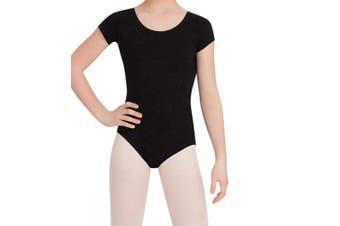 Capezio Black Size Medium M Girl's Scoop Neck Dance Wear Leotard