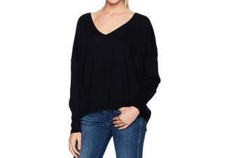 AG Adriano Goldschmied Womens Sweater Black Size Small S Shayla V-Neck