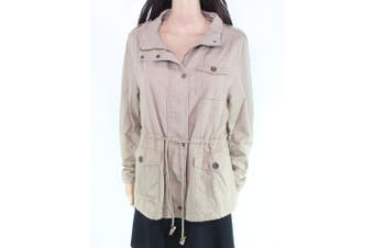AULINE Collection Womens Jacket Brown Size XXL Plus Drawstring Full-Zip