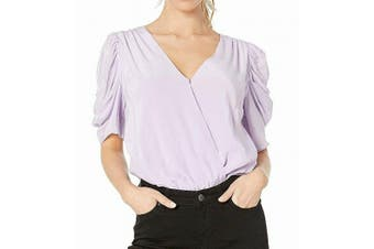 ASTR Women's Top True Lavender Purple Size XS Surplice Bodysuit