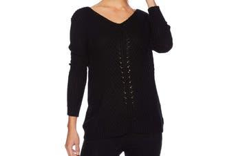 BB Dakota Women's Sweater Black Size XS V-Neck Bedroom Dancing