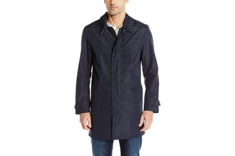 Cole Haan Mens Coat Blue Size Large L Classic Fit Topper Rainwear