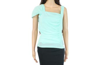 bebe Women's Blouse Mint Green Size 6 Ruched Side Dramatic Sleeve