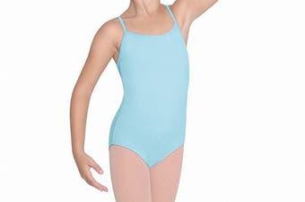 Bloch Girl's Outfit Light Blue Size 4-6 Parem Camisole Leotard Solid