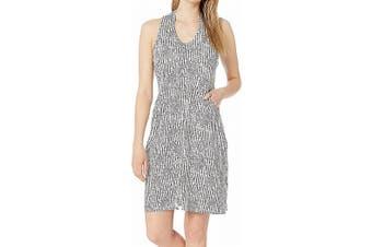 Aventura Women's Dress White Size Medium M Shift Lacylan 2-Pocket