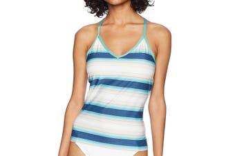 Carve Designs Women's Swimewear Blue Size Small S Stinson Tankini
