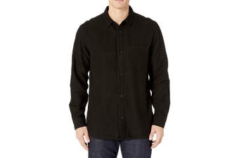 Baldwin Mens Shirt Black Size Large L Button Down Long Sleeve Lupine