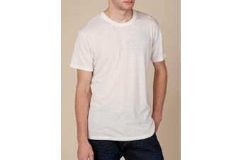 Alternative Mens T-Shirts Classic White Ivory Size Large L Echo Heahter