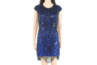 Designer Brand Womens Dress Black Size Medium M Sheath Bead Embellished