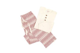 Burt's Bees Baby Mens Sleepwear White Holiday Size Medium M Pajama Sets