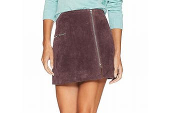 Blank NYC Women's Skirt Blackberry Purple Size 30 Mini Suede Side-Zip