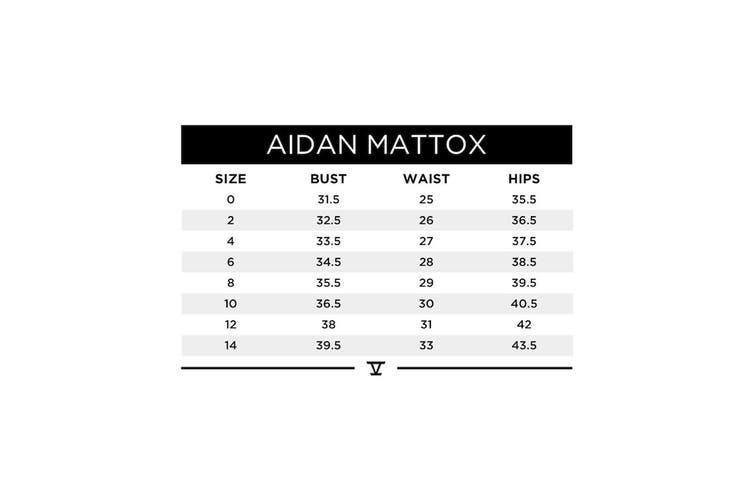 Aidan by Aidan Mattox Black Women's Size 6 Crepe Mesh A-Line Dress