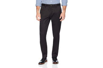 Buttoned Down Mens Black Size 34X32 Slim Fit Chino Pants Stretch