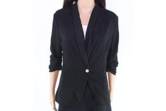 Beyove Women's Jacket Draped Open-Front Black Size Small S Cardigan