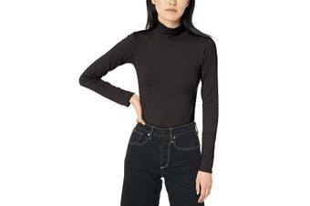 Calvin Klein Jeans Women's Top Midnight Black Size Small S Turtleneck
