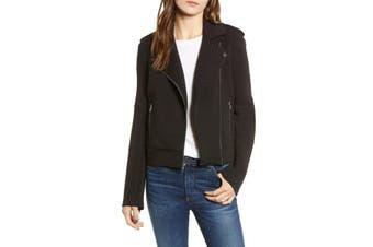 Cupcakes & Cashmere Women's Jacket Black Size Medium M Harlei Moto