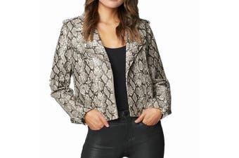 Blanc Nyc Women's Jacket Black Size Medium M Faux Leather Motorcycle