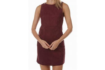 Bishop + Young Women's Dress Red Size Medium M A-Line Gemma Faux Suede