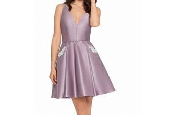 Blondie Nites Dress Lavender Purple Size 13 Junior A-Line Embellished `