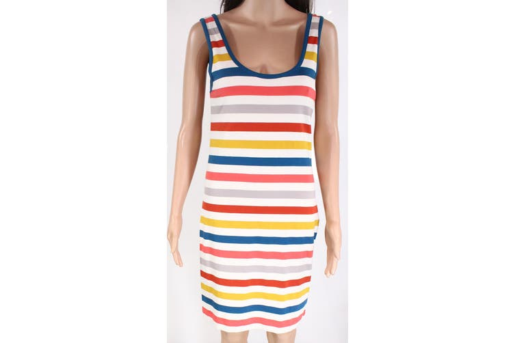 French Connection Women's Blue Size 8 Summer Colorblock Striped Tank