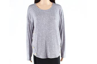 Blu Pepper Sweater Gray Size Large L Junior Pullover Elbow Patch