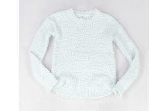 Freshman Sweater Classic Mint Green Size XL Fuzzy Crewneck Curved-Hem #116