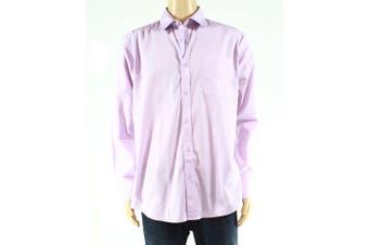 Daniel Hechter Mens Dress Shirt Lilac Purple Size 16 1/2 Modern Fit
