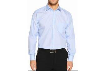 Daniel Hechter Mens Dress Shirt Blue Size 16 1/2 Slim Fit Long Sleeve