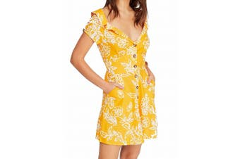Free People Women's Dress Yellow Size 6 A-Line A Thing Called Love