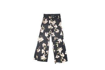 Lauren by Ralph Lauren Women's Black Size Medium M Dress Pants Floral