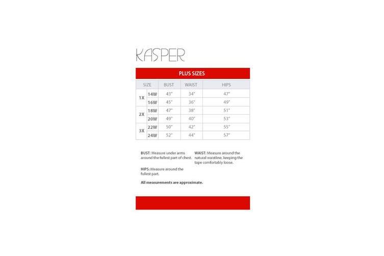 Kasper Women's Beige Size 24W Plus Wide Leg Highrise Linen Dress Pants