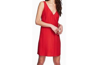 1. State Women's Red Size XL Tie Back Plunging V-Neck Shift Dress
