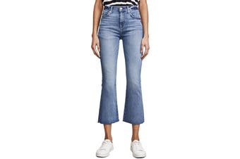 7 For All Mankind Womens Jeans Blue Size 24X25 Slim Crop Flare Stretch