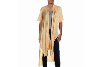 Free People Women's Sweater Bright Yellow Size XS Kimono Cardigan