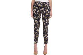 Tommy Hilfiger Women's Pants Blue Size 0 Floral Printed Ankle Slim